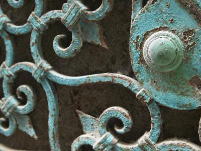 Ornate Metal Gate with Doorknob
