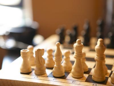 Chess Board with Pieces in Start Position