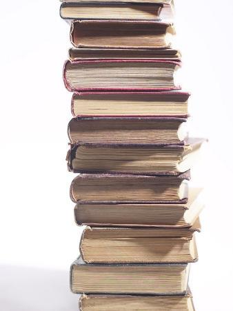 Studio Shot of a Stack of Old Hardcover Books