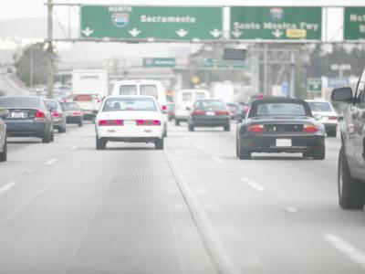 Highway Traffic, Los Angeles, California, Usa