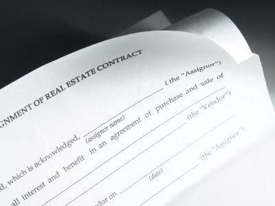 Close-Up of a Formal Real Estate Contract