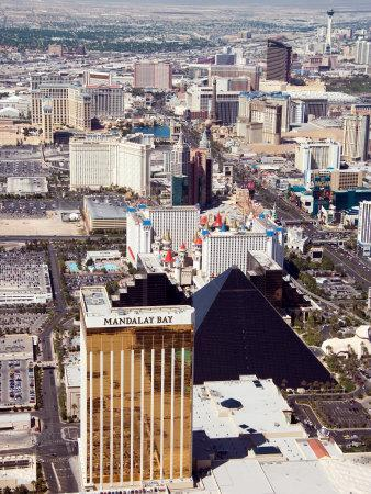 Aerial View of the Bustling City of Las Vegas, Nevada