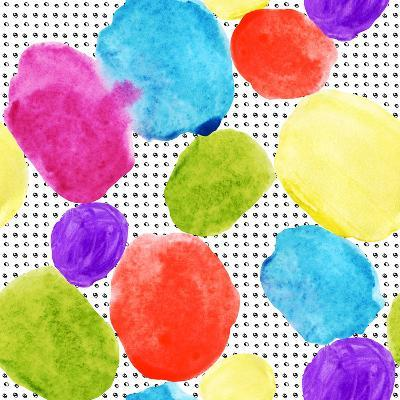 Colorful Watercolor Stains and Grunge Texture