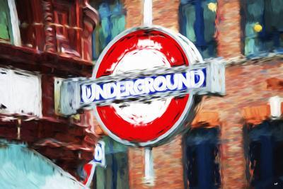 Underground Sign II - In the Style of Oil Painting