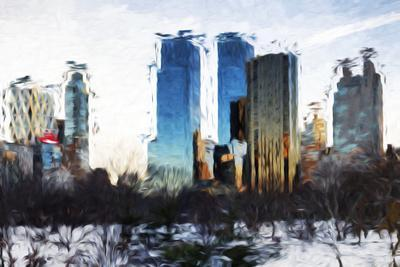Central Park Buildings II - In the Style of Oil Painting
