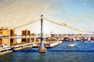 Manhattan Bridge VI - In the Style of Oil Painting