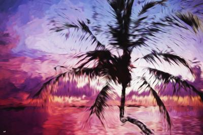 Tropical Sunset II - In the Style of Oil Painting