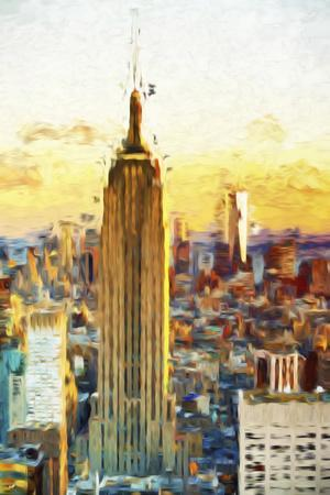 Empire State Sunset III - In the Style of Oil Painting