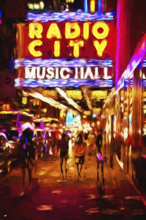 Radio City Music Hall II - In the Style of Oil Painting
