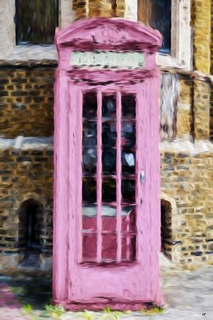 Pink Phone Booth - In the Style of Oil Painting