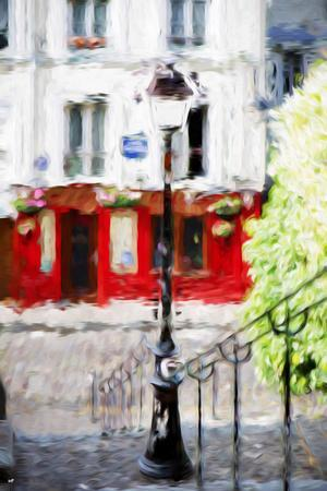 Montmartre Street - In the Style of Oil Painting