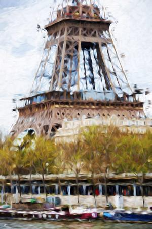 Paris Eiffel VII - In the Style of Oil Painting