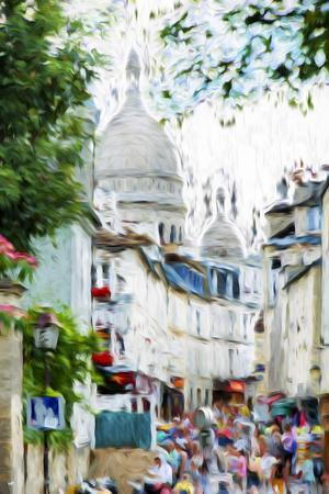 Paris Montmartre VI - In the Style of Oil Painting