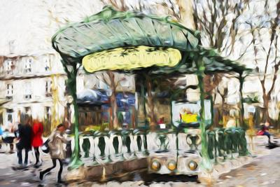 Subway Entrance - In the Style of Oil Painting