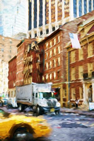 Manhattan Traffic - In the Style of Oil Painting