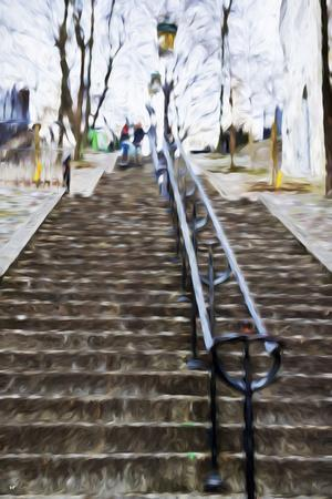 Paris Montmartre II - In the Style of Oil Painting