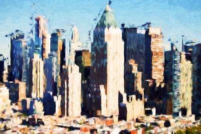 Manhattan Buildings II - In the Style of Oil Painting