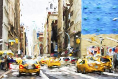 NYC Taxis - In the Style of Oil Painting