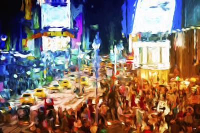 NYC Taxis II - In the Style of Oil Painting