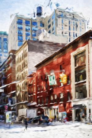 New York Street II - In the Style of Oil Painting