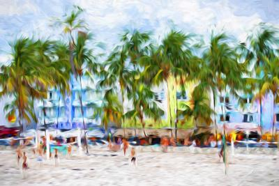 Ocean Drive Beach - In the Style of Oil Painting