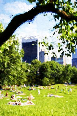 Central Park Summer IV- In the Style of Oil Painting