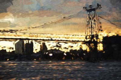 Williamsburg Bridge - In the Style of Oil Painting