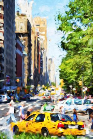 NYC Urban Scene II - In the Style of Oil Painting