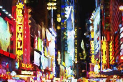 Times Square Night II - In the Style of Oil Painting
