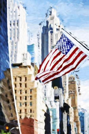 American Flag - In the Style of Oil Painting