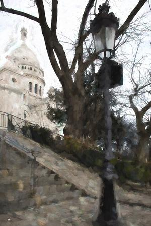 The steps of the Basilica in Montmartre