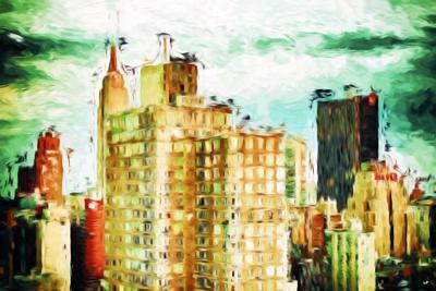 NYC Skygreen - In the Style of Oil Painting