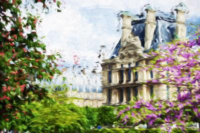 Paris Flowers IV - In the Style of Oil Painting