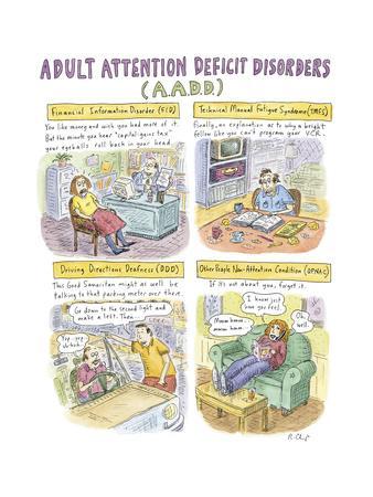 Adult Attention Deficit - New Yorker Cartoon