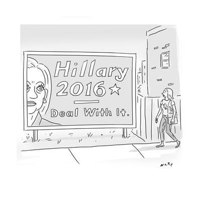 Hillary 2016 - Deal With It - Cartoon
