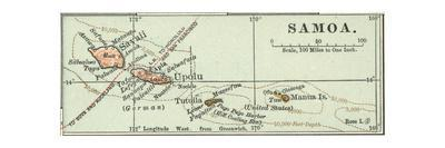 Inset Map of Samoa. South Pacific. Oceania