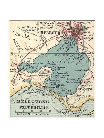 Map of Melbourne (C. 1900), Maps