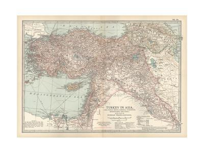 Plate 38. Map of Turkey in Asia. Asia Minor (Anatolia)