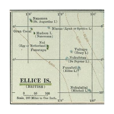 Plate 52. Inset Map of Ellice Islands (British)