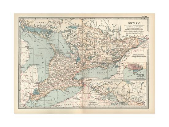 Map Of Canada Toronto Ontario.Map Of Ontario Canada Insets Of Toronto And Western Part Of Ontario