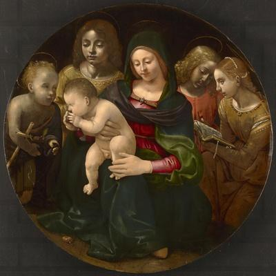 Virgin and Child with the Young Saint John the Baptist, Saint Cecilia, and Angels, C.1505