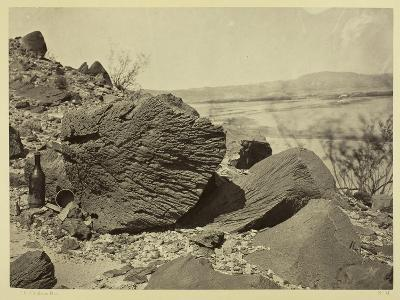 Rock Carved by Drifting Sand, Below Fortification Rock, Arizona, 1871