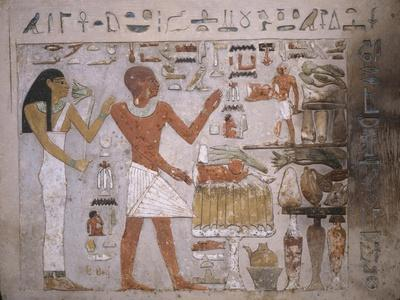 Wall Fragment from the Tomb of Amenemhet and His Wife Hemet, Middle Kingdom