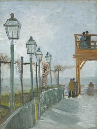 Terrace and Observation Deck at the Moulin De Blute-Fin, Montmartre, Early 1887
