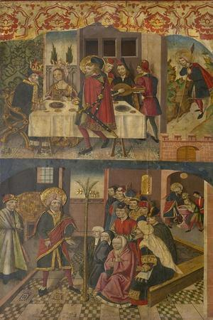 St. Christopher Taking Leave of the King Who Feared Satan, St. Christopher and His Converts, 1480-5