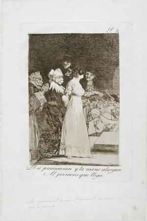 They Say 'Yes' and Give their Hand to the First Comer, Plate Two from Los Caprichos, 1797-99