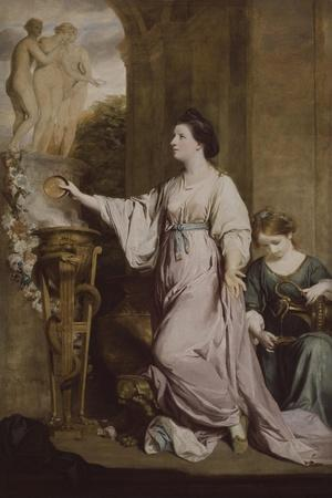 Lady Sarah Bunbury Sacrificing to the Graces, 1763-65