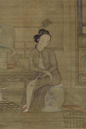 Beauty About to Bathe, Qing Dynasty
