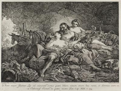 Lot and His Daughters, 1748