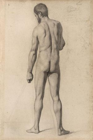 Academic Nude, Seen from the Back, 1862